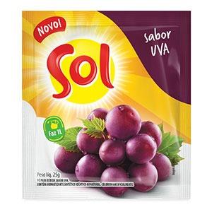 Pó para bebida sabor Uva
