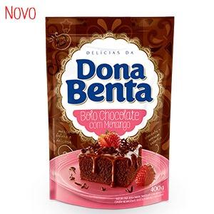 Mistura para Bolo Dona Benta<br>Linha Delícias<br> Chocolate com Morango