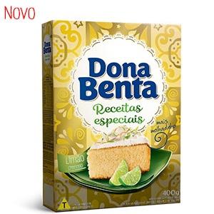 Mistura para Bolo Dona Benta<br>Linha Receitas Especiais<br> Limão Cremoso