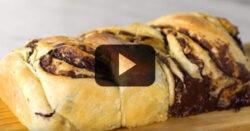 Pão recheado com Chocolate Dona Benta