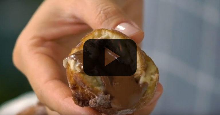 Bolinho de Chuva Recheado com Nutella
