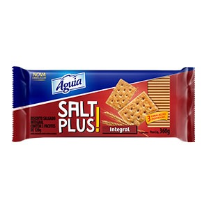 Biscoito Integral Salt Plus