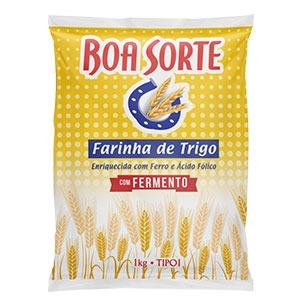 Farinha de Trigo com Fermento Boa Sorte